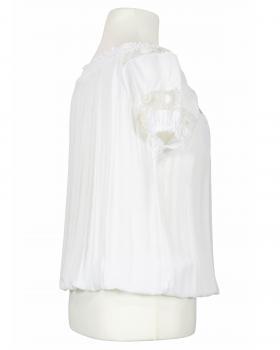 Bluse mit Spitze, weiss (Bild 2)
