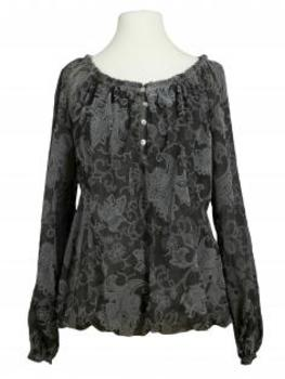 Damen Bluse Paisley Muster, anthrazit
