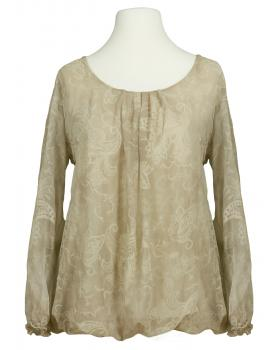 Damen Bluse Paisley Muster, beige