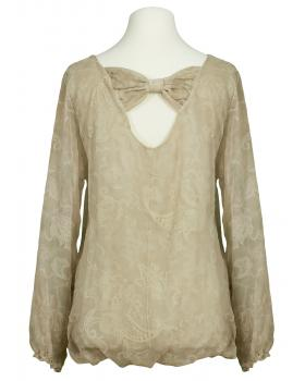 Bluse Paisley Muster, beige