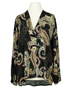 Bluse Paisley Muster, schwarz