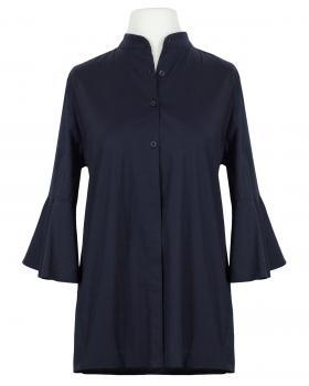 Bluse Stehkragen, dunkelblau von Moda Milano