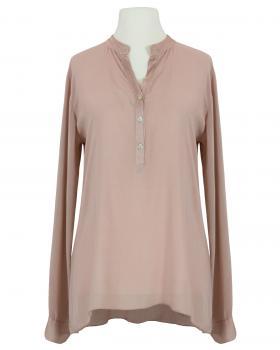 Bluse Stehkragen, rosa von Monday Afternoon