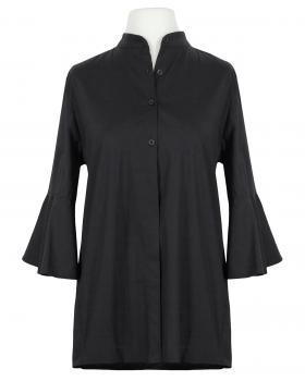 Bluse Stehkragen, schwarz von Moda Milano