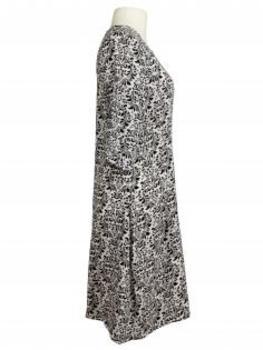 Blusenkleid Tunikastil, schwarz weiss