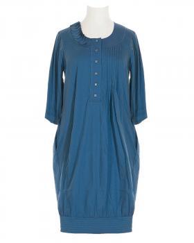 Blusenkleid mit Seide, petrol (Bild 1)