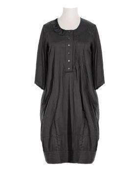 Blusenkleid mit Seide, schwarz (Bild 1)