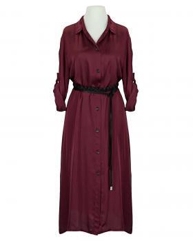 Blusenkleid Satin, bordeaux von Moda Italia