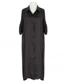Blusenkleid Satin, schwarz von Moda Italia