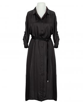 Blusenkleid Satin, schwarz (Bild 2)