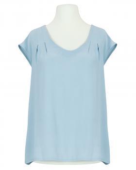 Blusenshirt Crepe Georgette, hellblau von Made in Italy
