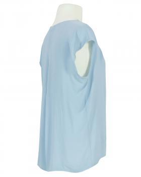 Blusenshirt Crepe Georgette, hellblau (Bild 2)