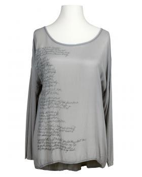 Blusenshirt mit Seide, grau von Spaziodonna (Bild 1)