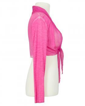 Bolero mit Seide, pink (Bild 2)