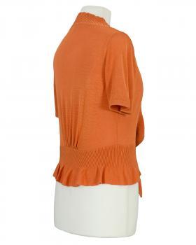 Bolero mit Volant, orange (Bild 2)