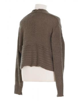 Bolero Strickjacke, coffee