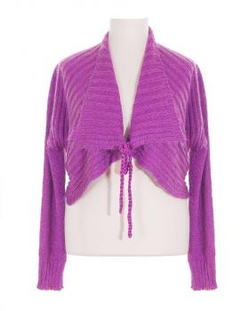 Damen Bolero Strickjacke, orchidee