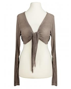 Bolero Viskosestrick, taupe von fashion made in italy