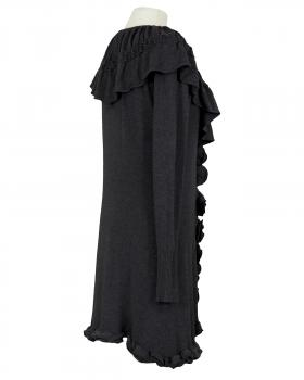 Cardigan mit Volant, schwarz (Bild 2)