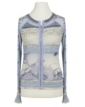 Damen Cardigan multicolor, blau