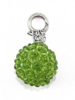 Charm Anhänger Glasperle, grün