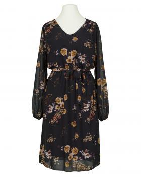 Chiffon Blütenkleid, schwarz