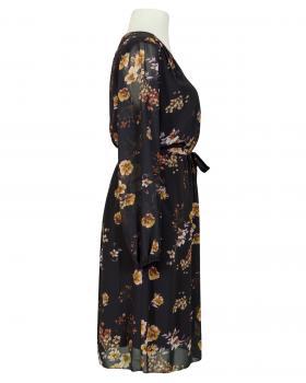 Chiffon Blütenkleid, schwarz (Bild 2)