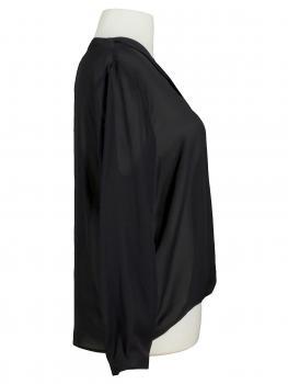 Chiffon Bluse, schwarz