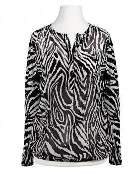 Chiffon Bluse, Zebramuster von Italia Moda (Bild 1)
