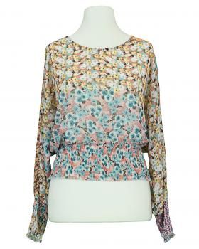 Chiffon Bluse Floral, rosa von New Collection