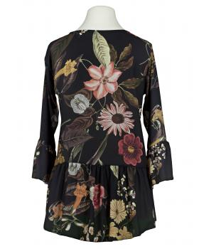 Chiffon Bluse Floral, schwarz (Bild 2)