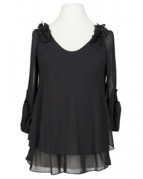 Chiffon Bluse Lagenlook, schwarz von New Collection (Bild 1)