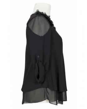 Chiffon Bluse Lagenlook, schwarz von New Collection (Bild 2)