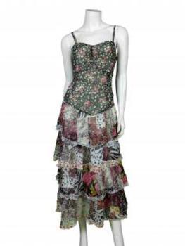 Chiffon Kleid, multicolor von Lulu H von Lulu H