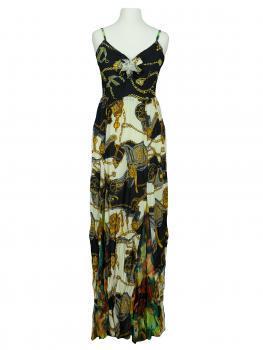 Chiffon Kleid lang, multicolor