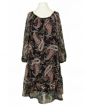 Chiffon Kleid Paissley, schwarz
