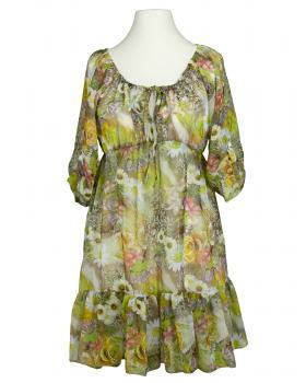 Chiffon Tunika floral, grün