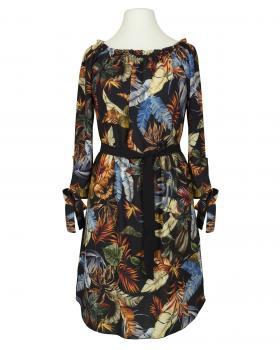 Chiffon Tunika Kleid, schwarz