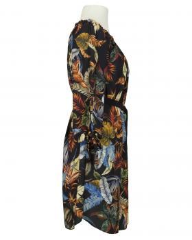 Chiffon Tunika Kleid, schwarz (Bild 2)