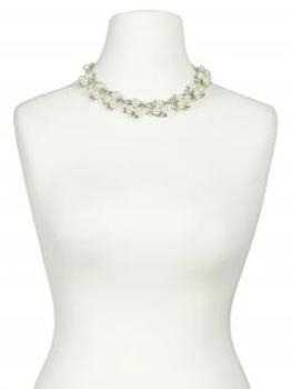 Collier mit Perlen, ecru (Bild 1)