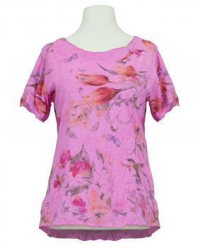 Crash Shirt floral, pink von Spaziodonna