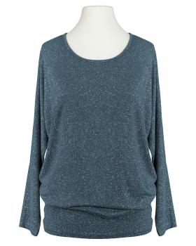 Long Shirt Lurex, blau (Bild 2)