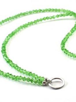 Grundkette Glasperlen für Charms, grün von Fashion Jewelry von Fashion Jewelry