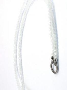 Grundkette Glasperlen für Charms, weiss von Fashion Jewelry von Fashion Jewelry