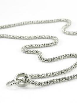 Grundkette Metall für Charms, silber
