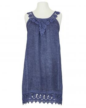 Hängerchen Kleid mit Spitze, blau von Diana