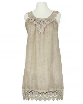 Hängerchen Kleid mit Spitze, taupe