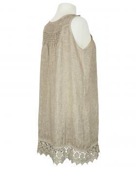 Hängerchen Kleid mit Spitze, taupe (Bild 2)