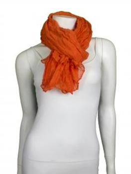Halstuch, orange von fashion made in italy
