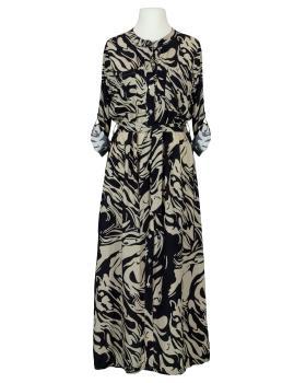 Hemdblusenkleid Print, schwarz von Made in Italy